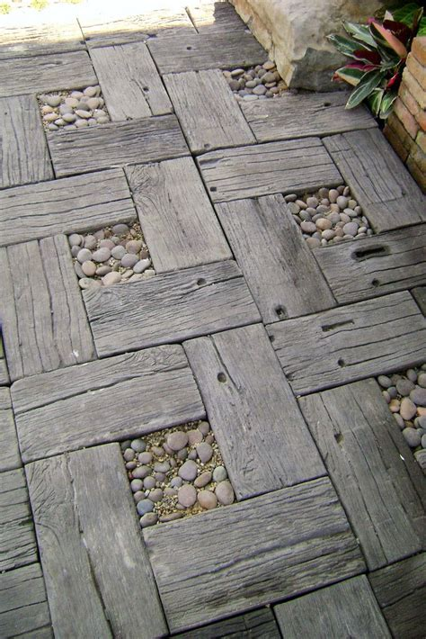 Wood Grain Concrete Pavers Diy